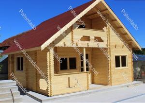 Casa de madera modelo Huelva desde 36 m2 a 72 m2 de 1 planta, más entre el 50 y 70  % de buhardilla