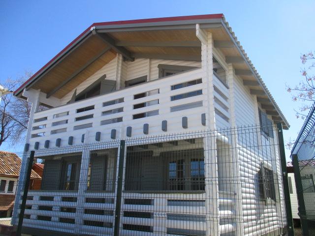 Casa de madera en Malaga, modelo Texas, esta de 50M2 en 2 plantas.